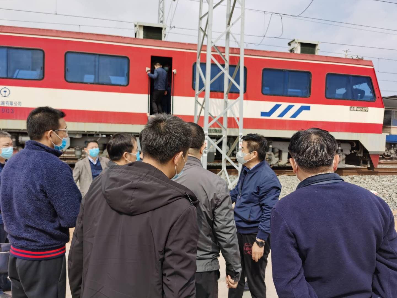 陕西铁路物流集团党委书记、董事长赵国智到铁运分公司榆横项目部调研