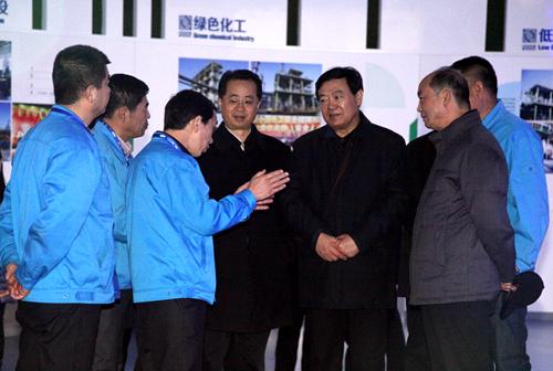 陕西省副省长李金柱参观神木天元公司展厅