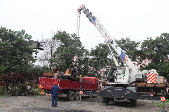 【安全月征文】机电分公司(厂)精心开展设备残体吊装安全演练